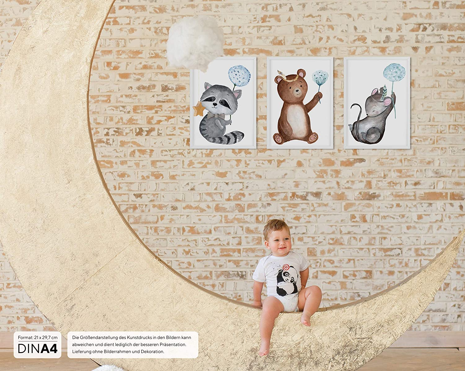 Decoration Nursery gaixample.org Wall Picture Set of 3 for Baby ...