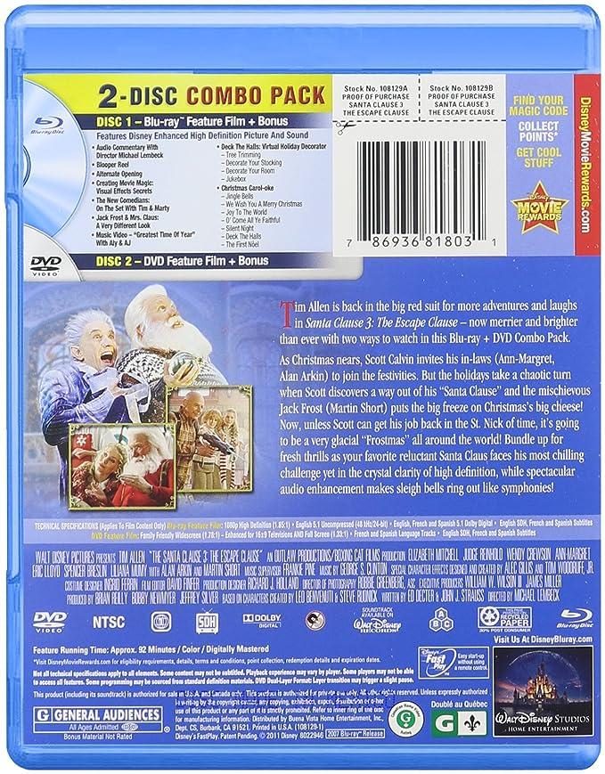Amazon in: Buy Santa Clause 3: The Escape Clause [Blu-ray] DVD, Blu