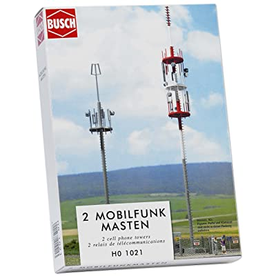 Busch 1021 Cell Phone Towers 2/ HO Structure Scale Model Structure: Toys & Games