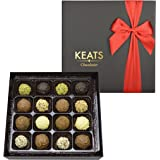 KEATS CHOCOLATIER FINE TRUFFLES ASSORTMENT IN HAND MADE GIFT BOX CHOCOLATE 200g