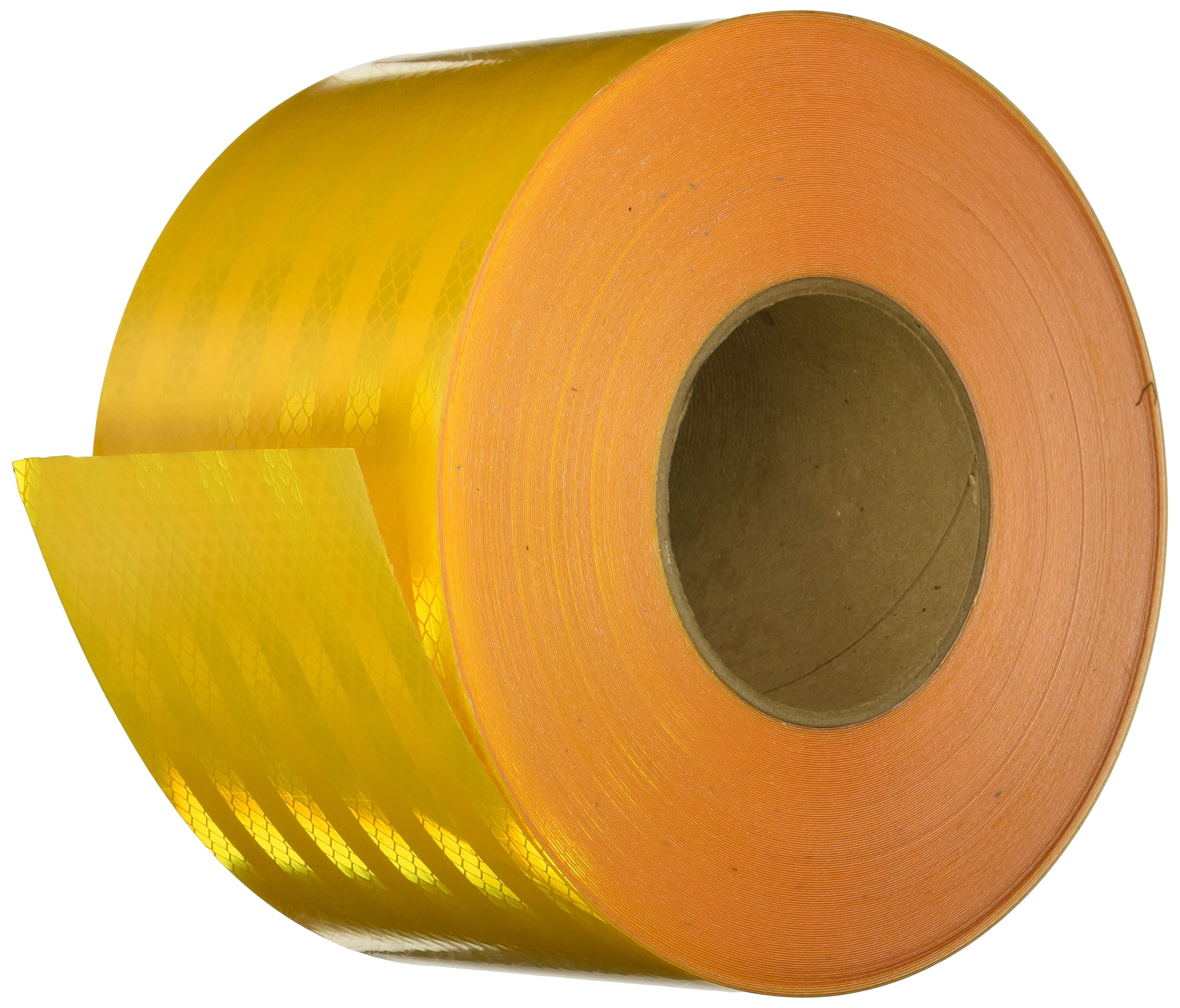 3M 3431 Yellow Micro Prismatic Sheeting Reflective Tape – 4 in. x 150 ft. Non Metalized Adhesive Tape Roll. Safety Tape