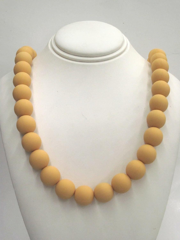 人気を誇る Chewable Food Teething Necklace Non for Teething Babies or Beads. Nursing Moms. Strand of 14mm Mustard Yellow Beads. Soft Silicone Food Safe Beads. BPA Free Non Toxic. by Favor Jewels B00GHQ001K, 今立町:ef1906c0 --- a0267596.xsph.ru
