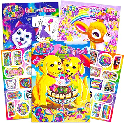 Lisa Frank Coloring Book And Stickers Super Set 3 Books With Over 30 Lisa  Frank Stickers Drawing & Sketch Pads Drawing & Painting Supplies  Rayvoltbike.com