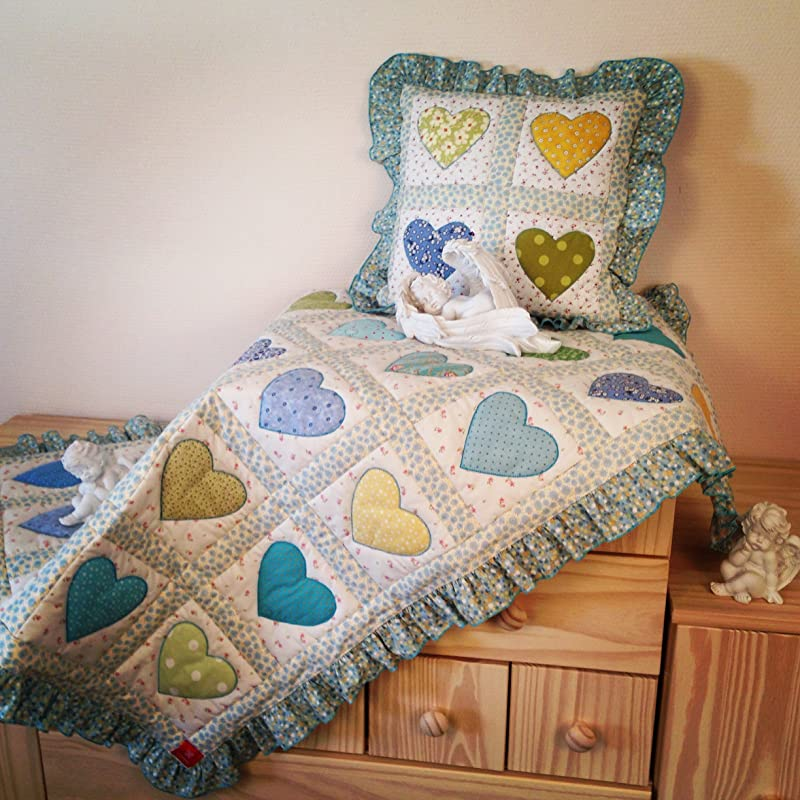 Bespoke quilt Throw Handmade to Order Nursery Decor Twin quilt Patchwork quilt quilted blanket Custom Made Quilt Heart Quilt