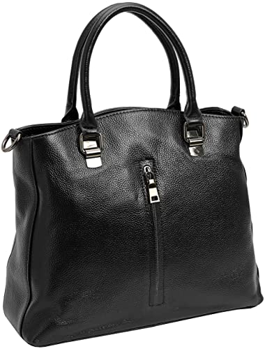 e31e845815 Amazon.com  Kenoor Leather Tote Top Handle Handbags Shoulder Bags Satchel  for Women on Clearance with Front Pocket (Black)  Shoes