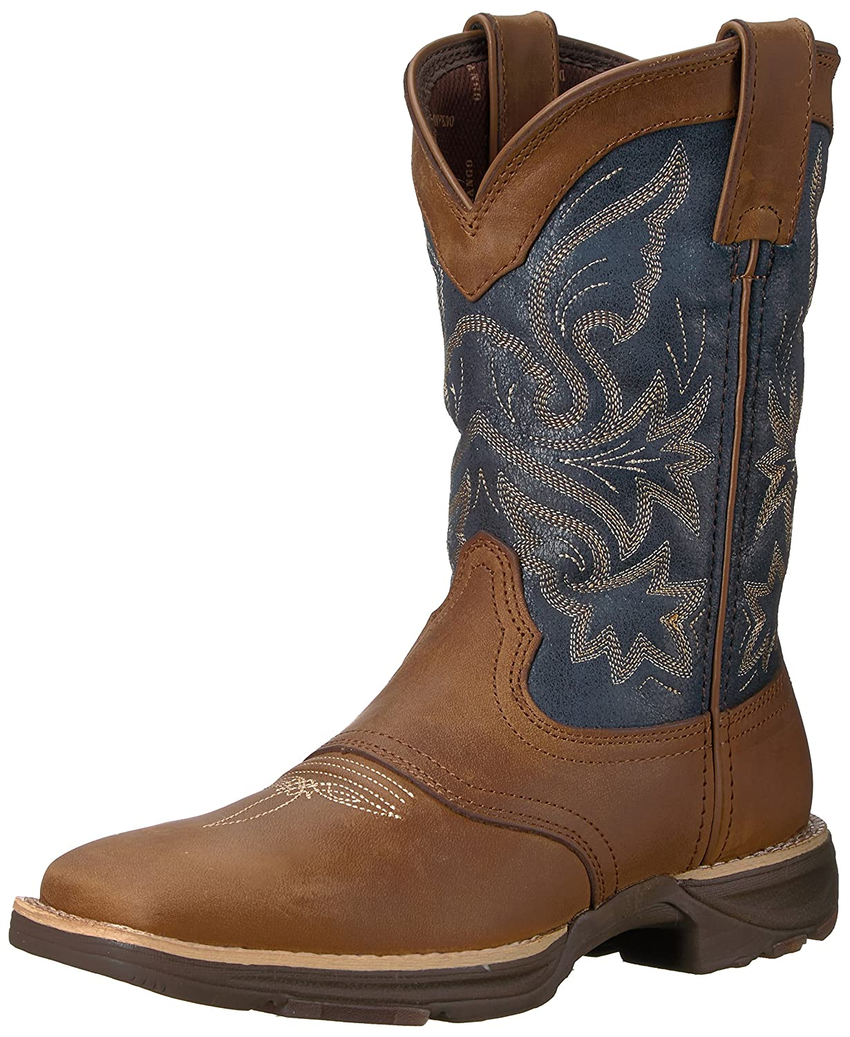 Durango Women's DRD0183 Western Boot B01HF7BYOG 8.5 B(M) US|Tan Blue Denim