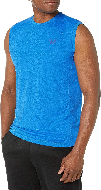 Amazon Brand - Peak Velocity Men's VXE Sleeveless Quick-Dry Multiple-fit Muscle Tank Top