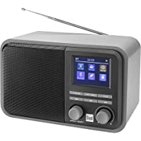 Digitalradio mit Akku und Bluetooth, DAB+ / UKW, MP3, USB-/SD-Anschluss, Farbdisplay, AUX-In, Senderspeicher, Teleskopstabantenne, Grau, Dual DAB 51