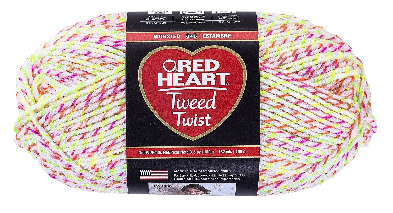 (NEON WHITE) - RED HEART Tweed Twist Yarn, Neon White B01FV5Y98W