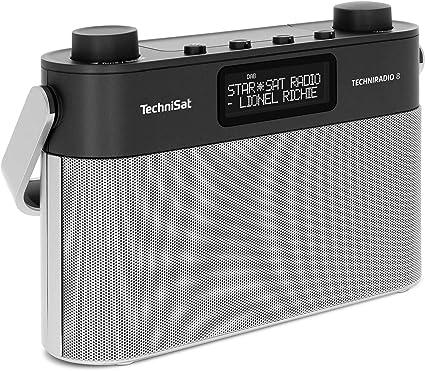Technisat Techniradio 8 Portables Digitalradio Mit Tragegriff Dab Ukw Stereo Sprachansagen Radiowecker Kopfhöreranschluss Netz Und Batteriebetrieb 6 Watt Schwarz Silber Heimkino Tv Video
