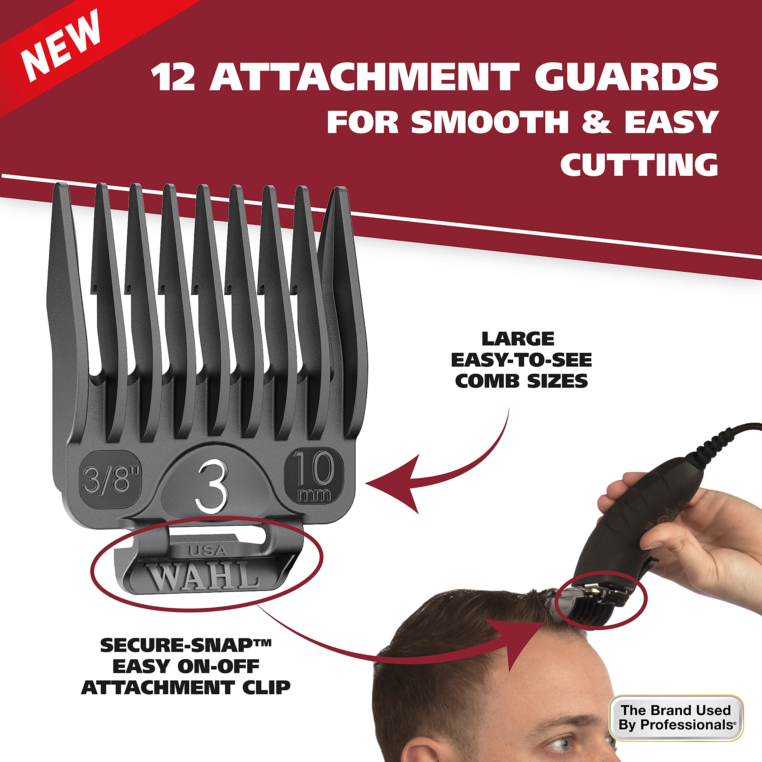 Wahl Clipper Self-Cut Haircutting Kit 79467 Compact Trimming and Personal Grooming Kit by WAHL (Image #7)
