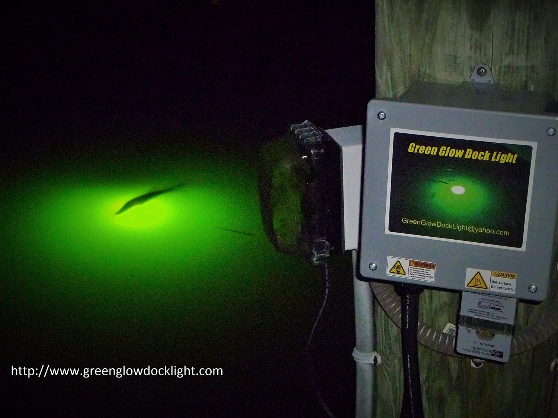Amazon.com  Saltwater u0026 Freshwater Green Underwater Dock and Fish Attracting Light Kit. Long 50u0027 L& Cord.  Sports u0026 Outdoors & Amazon.com : Saltwater u0026 Freshwater Green Underwater Dock and Fish ...