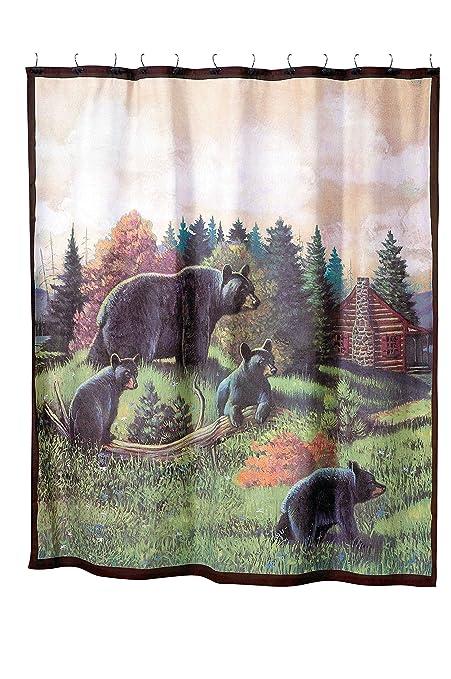 Avanti Linens Black Bear Lodge 72quot X Shower Curtain