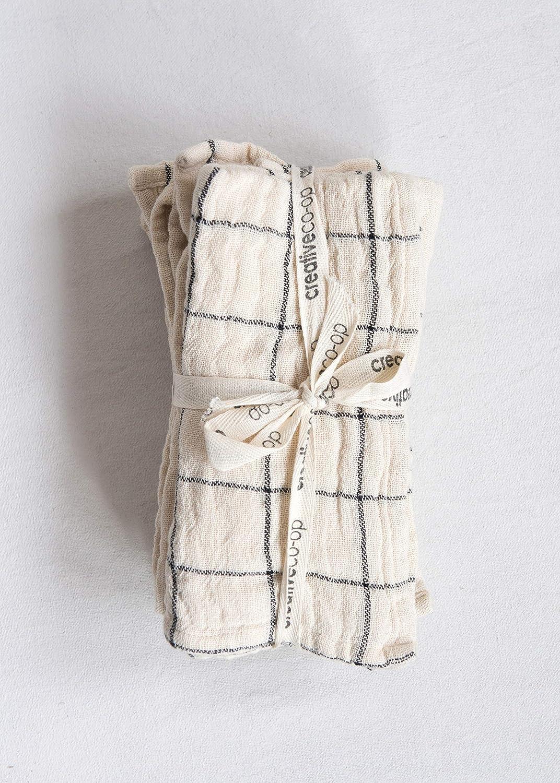 Creative Co-Op DA9759 Set of 4 Striped Cotton Napkins