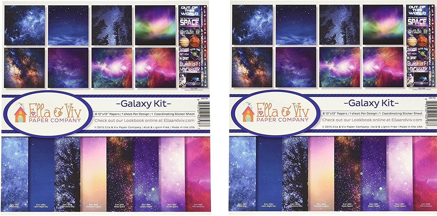 Ella /& Viv by Reminisce EAV-793 Galaxy Collection Kit 2 Pack