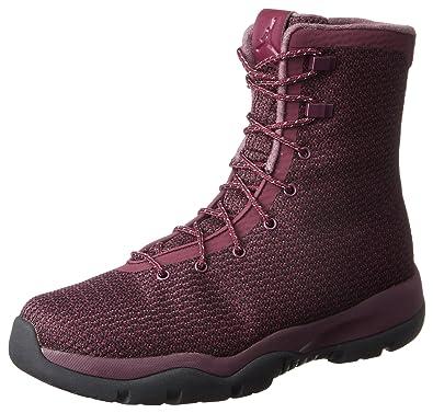 Mens Jordan Future Boot Black/Red-Grey Fabric Size 9