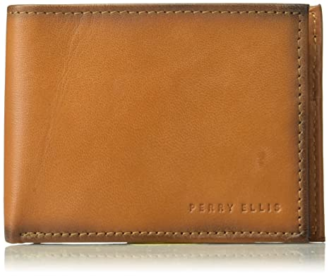 Perry Ellis - Billetera de dos paneles Hombres Talla unica ...