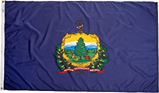 product image for Annin Flagmakers Model 145470 Vermont State Flag 4x6 ft. Nylon SolarGuard Nyl-Glo 100% Made in USA to Official State Design Specifications.