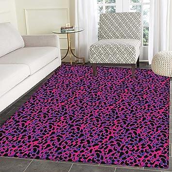 amazon com jungle anti skid area rug 80s style vintage leopard skin