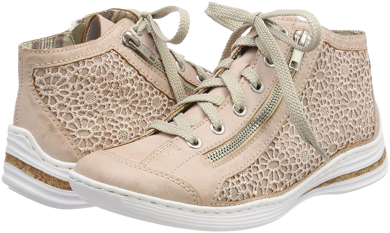 Rieker (Rose/Altrosa) Damen M3539 Sneaker Rot (Rose/Altrosa) Rieker a09106