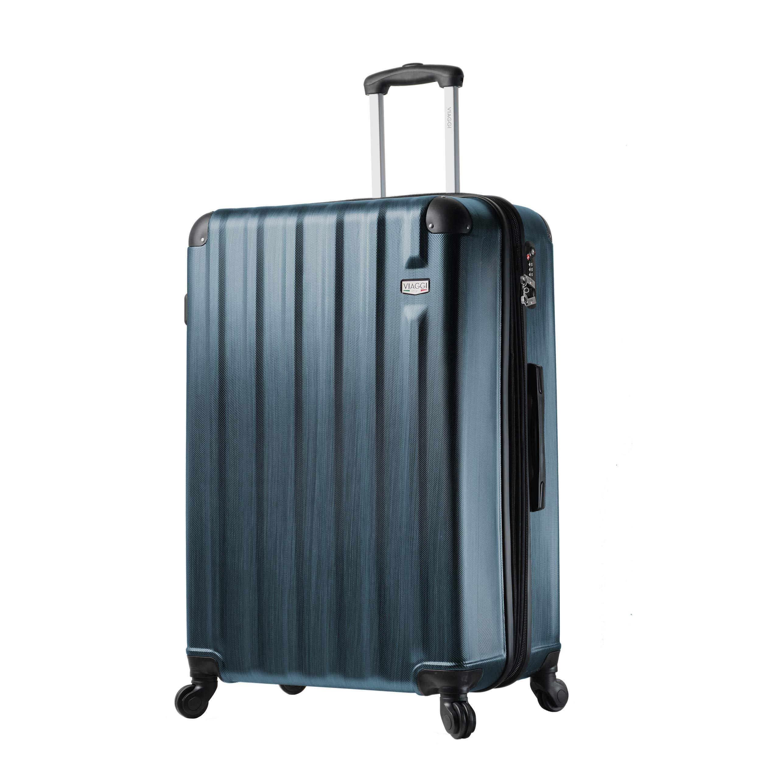 Viaggi Mia Italy Abruzzo Hardside 29 Inch Spinner, Blue