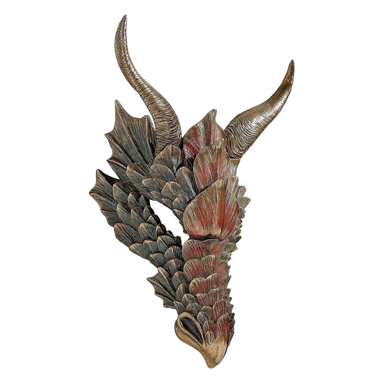 Design Toscano Dragon Feathers Wall Mask WU76464