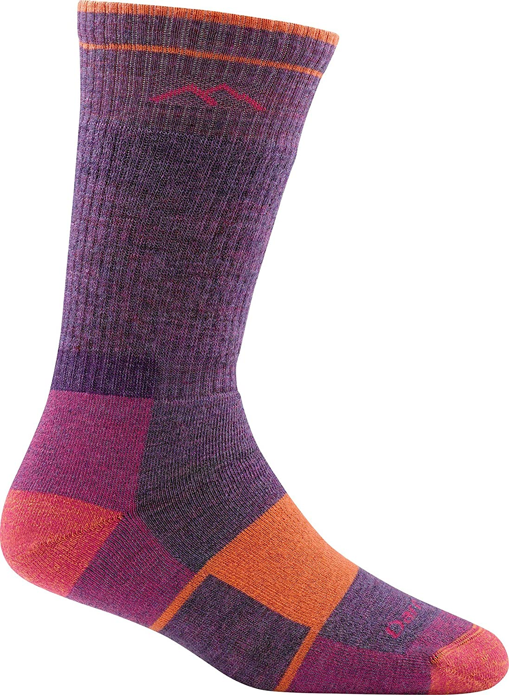 Plum Heather Darn Tough Hiker Boot Sock Full Cushion M Womens