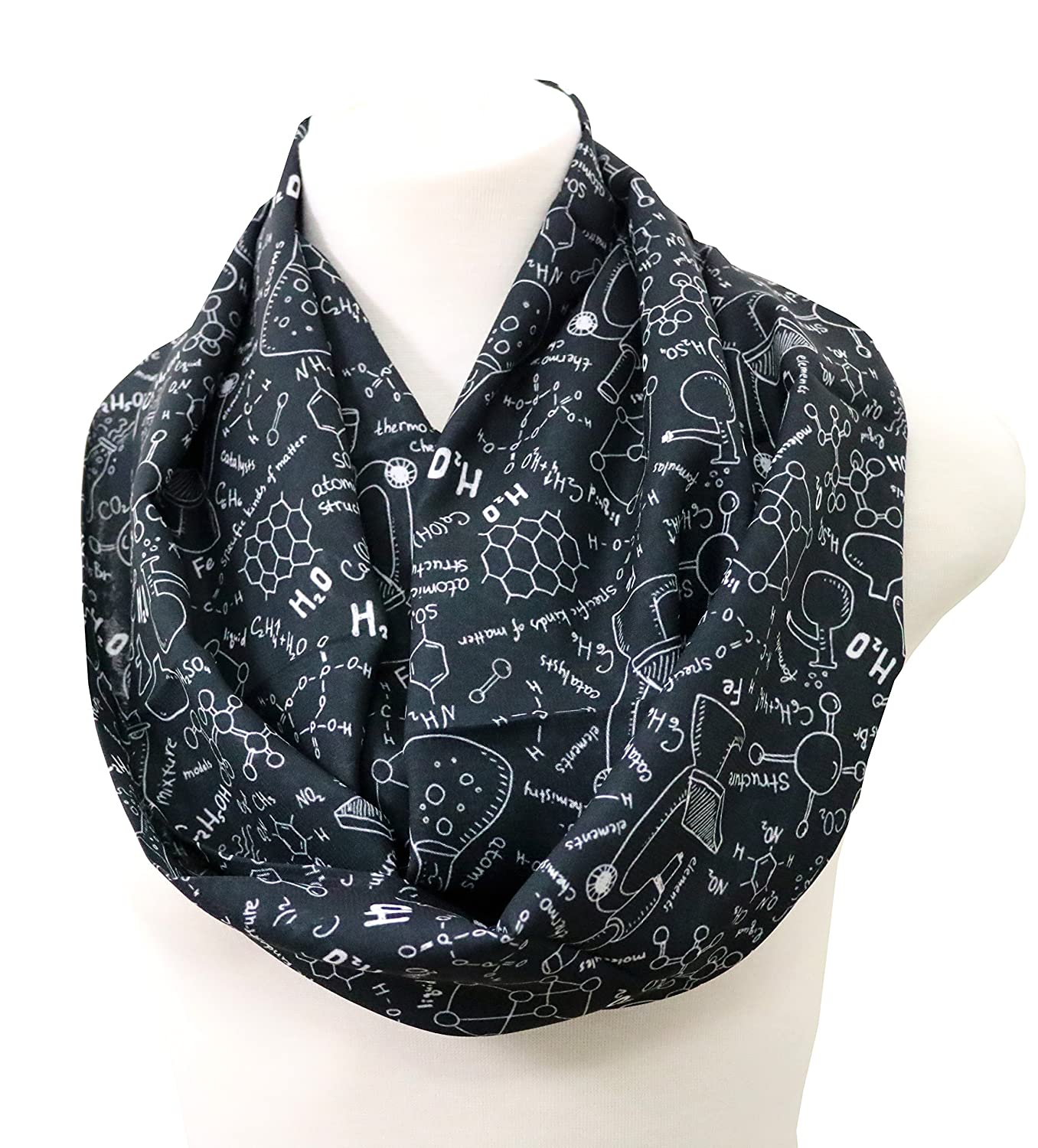 Science Infinity Scarf For Teachers Pharmacist Chemist Engineer Birthday Gift Her Biologist Student Graduation Present Nerd Geek