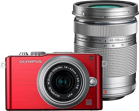 Olympus Pen E Pl3 Systemkamera 3 Zoll Rot Kit Mit Kamera