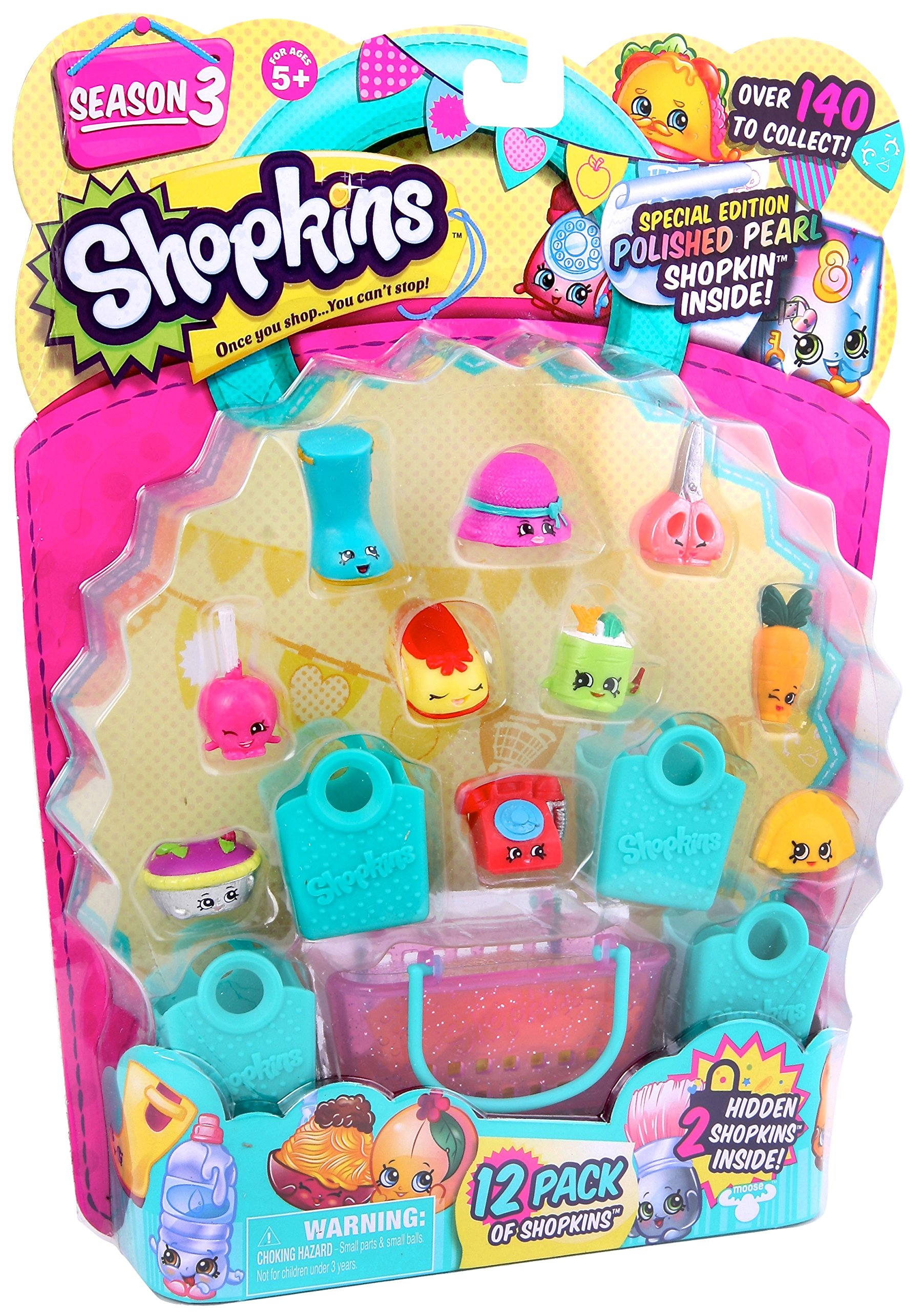 Shopkins Season 3 12 Pack Amazonin Moose Toys Books