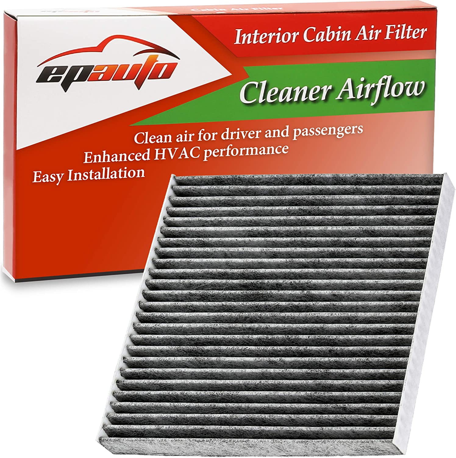 EPAuto CP671 RAM 1500,2500,3500,4500,5500 Cabin Air Filter includes Activated Carbon Replacement for Mazda CX-7 CF11671
