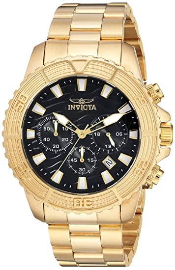 Invicta 24000 Pro Diver Reloj para Hombre acero inoxidable Cuarzo Esfera negro: Amazon.es: Relojes