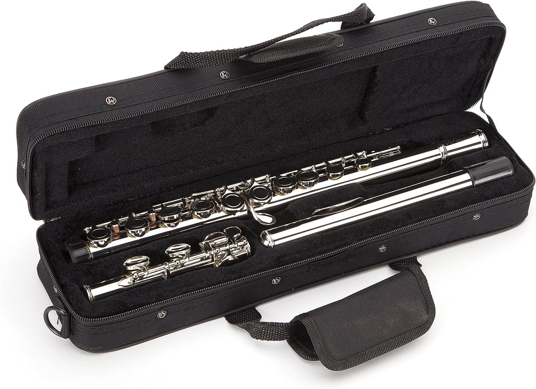 Windsor MI-1002 - Flauta niquelada para estudiantes con la tecla de división E incluye estuche rígido: Amazon.es: Instrumentos musicales