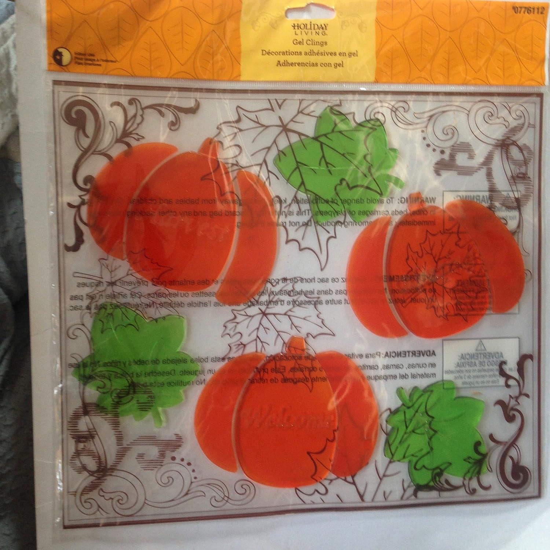 Amazon.com: Holiday Living Pumpkin Patch Window gels: Home & Kitchen