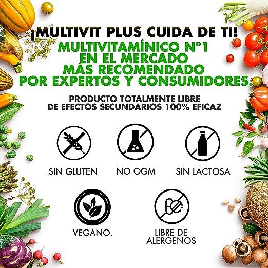 Completo Complejo Multivitamínico + Minerales   Vitamina C, E, B3, B5, A, B6, B2, B1, D9, D3, Zinc, Hierro, Yodo y Potasio   Protege y fortalece tu Sistema Inmune   Aporta Energía