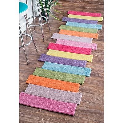 "nuLOOM Pantone Colorful Stripes Kids Runner Rug, 2' 6"" x 6', Multi: Kitchen & Dining"