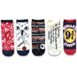 Harry Potter Hogwarts Express Hedwig Juniors/Womens 5 Pack Ankle Socks Size 4-10