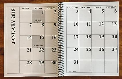 jumbo large print 2018 desktop calendar 13 months with january 2019 17