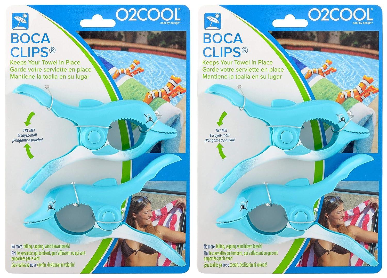 2-Pack, O2COOL BCP10 Flip Flop Boca Towel Clip