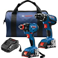 Bosch GXL18V-232B22 18V 2-Tool Kit with 1/2 In. Compact Tough Drill/Driver