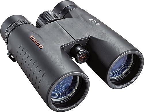 TASCO ES8X42 Essentials Roof Prism Roof MC Box Binoculars, 8 x 42mm, Black