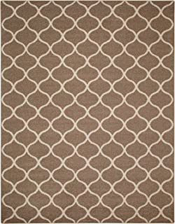 product image for Maples Rugs Rebecca Contemporary Area Rugs for Living Room & Bedroom [Made in USA], 7 x 10, Café Brown/White