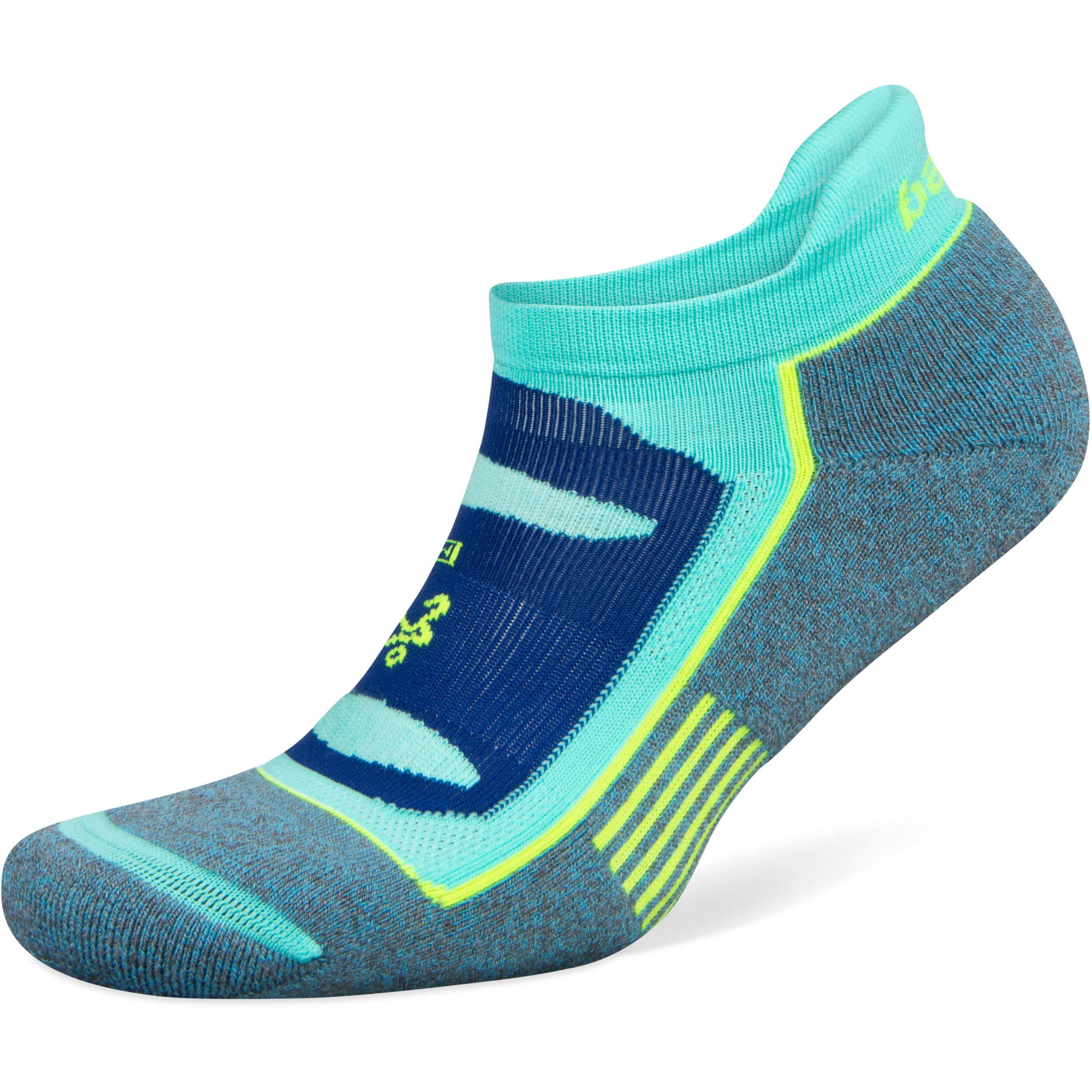 Balega Blister Resist No Show Socks for Men and Women (1 Pair), Ethereal Blue/Light Aqua, Small by Balega