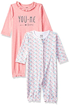 8592563c6fe MINI KLUB Baby Girls  Regular Fit Romper Suit (Pack of 2)  Amazon.in ...