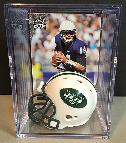 Amazon.com  New York Jets NFL Helmet Shadowbox w  Christian ... 40495f952