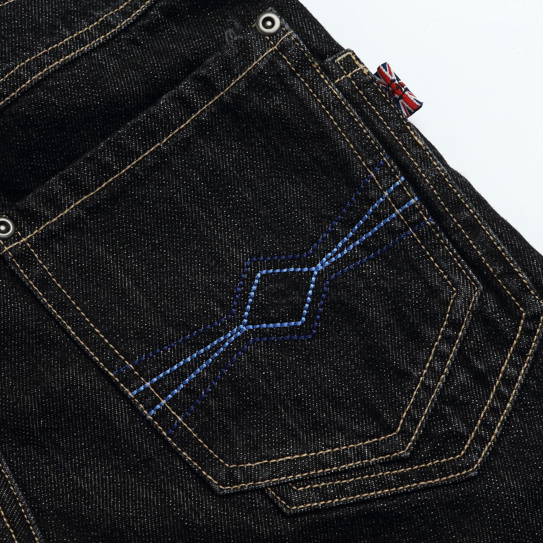 Leo&Lily Big boys'Husky Whole Rib Waist Fine Denim Black Jeans (16) by Leo&Lily (Image #6)
