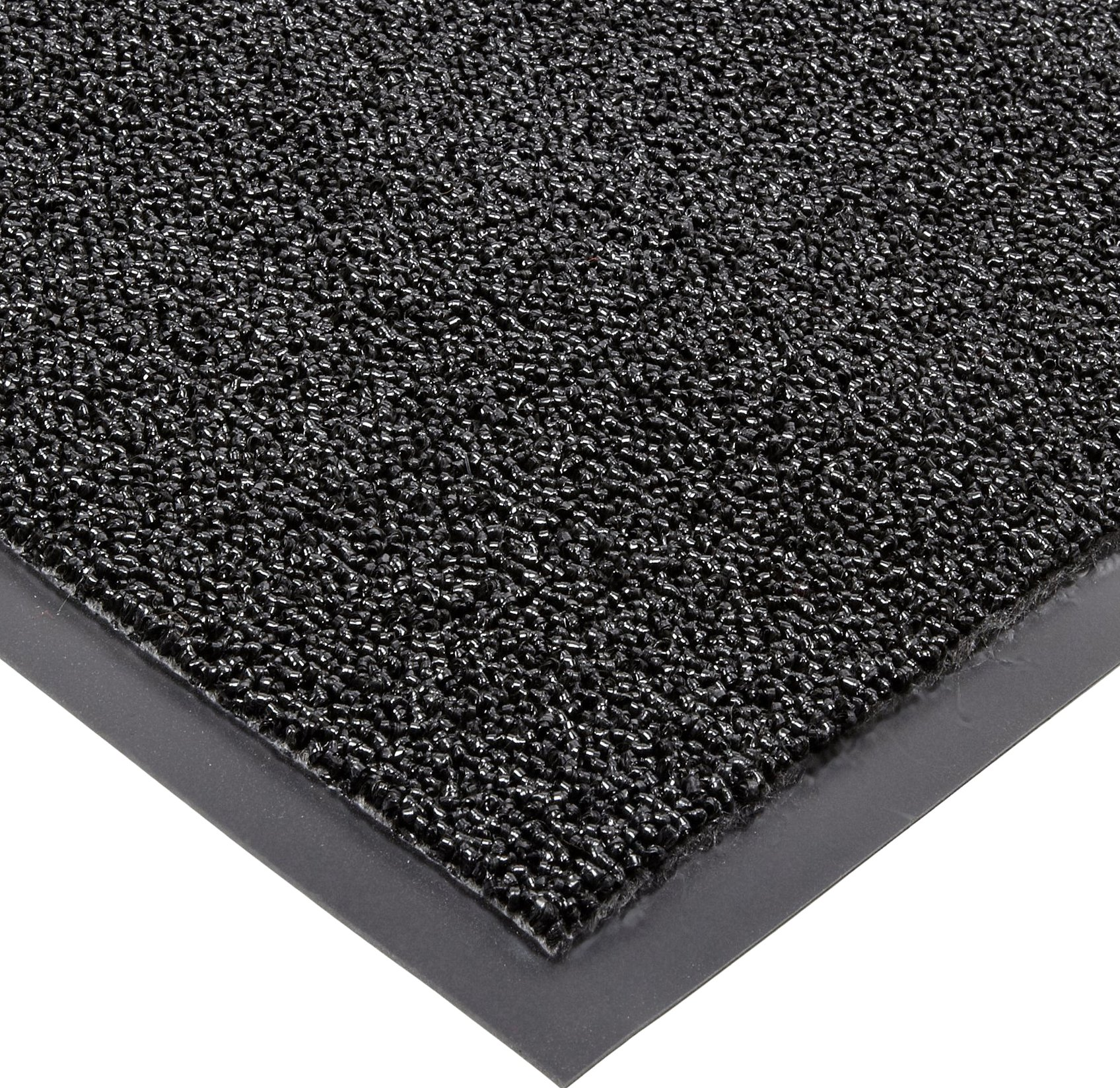Notrax Non-Absorbent Fiber 231 Prelude Entrance Mat, for Outdoor and Heavy Traffic Areas, 3' Width x 6' Length x 1/4'' Thickness, Black
