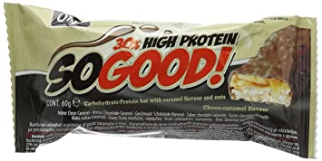 Superbe QNT 60 G Milk Chocolate And Caramel So Good Protein Bar   Pack Of 15