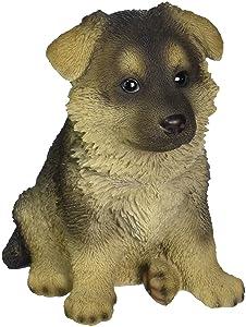 Hi-Line Gift Ltd Sitting German Shepherd Puppy Statue