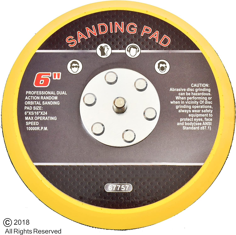 "ATD Tools 2078 6/"" DA Pad    Stick On stick-it  Sanding Disc Pad"